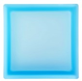 PEGASUS Brique de Verre – Aquamarine Lisse Satinee 2 Faces - Aquamarine