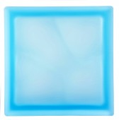 PEGASUS Brique de Verre - Aquamarine Ondulee Satinee 2 Faces